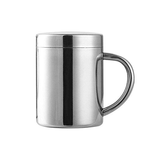 Tasses En Acier Inoxydable Tasses Empilables Grande Tasse D'eau D'acier Inoxydable Tasse À Café Au Lait Avec Couvercle