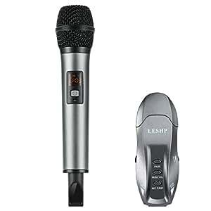leshp microphone bluetooth usb micro sans fil k18 microphone professionnel r cepteur double. Black Bedroom Furniture Sets. Home Design Ideas