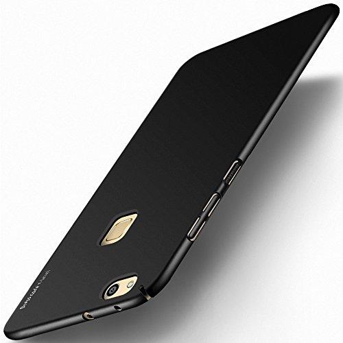 Huawei P10 Lite Hülle, X-level [Kinght Serie] Hart Handlich [Schwarz] Premium PC Material Gutes Gefühl Handyhülle Schutzhülle für Huawei P10 Lite Case Cover