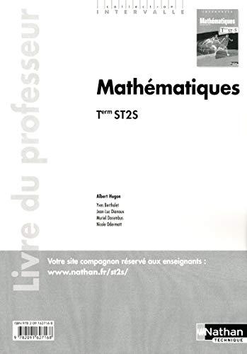 Mathématiques - Tle ST2S - livre du professeur