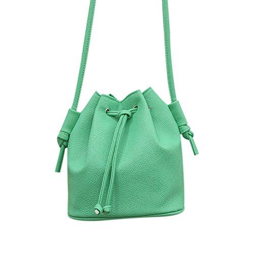 Espeedy Frauen Handtasche Kleine Eimer Form Frauen Messenger Bags Weibliche Handtaschen PU Leder Schulter Umhängetasche Grün
