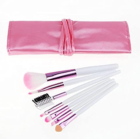 Beauty Königreich Make-up Brushset Pink 7 Cosmetics Professional Essential Make Up Pinsel Set Kits mit Reise