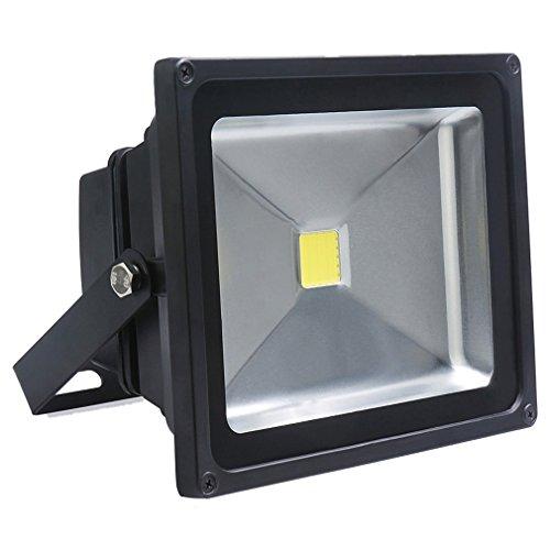 Auralum® 10W/30W/50W Super brilliant 50W 230V IP65 Waterproof Noir Blanc LED Projecteur de lumière d'inondation