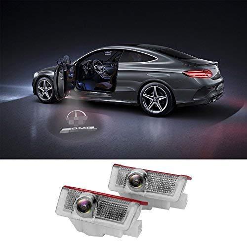 FlexDin Kit luci LED sportello Logo 3D proiettore auto portiere 5wat per Benz Classe A B C E M GL 4MATIC Senza Modifi (2 set)