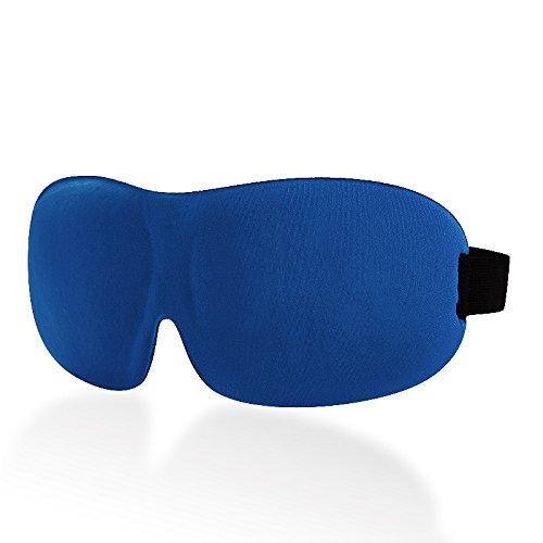 Schlafmaske Damen und Herren,3D Augenmaske Schlafen Bequem und weich Verstellbarem Gummiband Schlaf Komplett Dunkelheit Gegen Freies Bewegen der Augen (blue)
