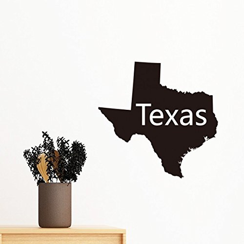 DIYthinker Texas der Vereinigten Staaten von Amerika USA Karte Silhouette entfernbarer Wand-Aufkleber-Kunst-Abziehbilder Wand-DIY Tapete für Zimmer Aufkleber 80cm - Karte Der Usa-wand-kunst