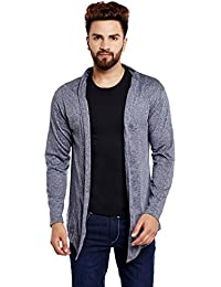Chill Winston Navy Grindle Color Cotton Shrug For Men