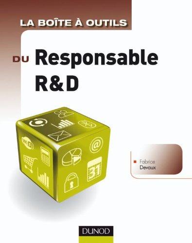 La boîte à outils du Responsable R&D par Fabrice Devaux