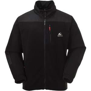 COX SWAIN men fleece jacket TRAIL (Titanium Series), Colour: Black, Size: S