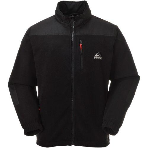 Fleece-ski-jacke (COX SWAIN Herren FLEECE Jacke TRAIL (Titanium Series), Colour: Black, Size: L)