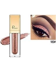 Lidschatten, Hunpta Metallischer glänzender rauchiger Augen-Augenschminke-wasserdichter Glitter-flüssiger Eyeliner (J)