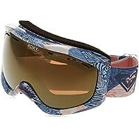 Roxy Sunset Art J Sngg Bgb2 Snowboard Goggles, Mujer, Blanco (Powder Blue_Animal Geo), Talla Única