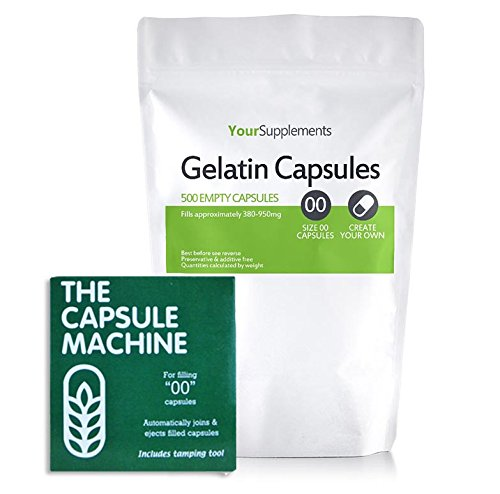 Your Supplements - Capsule Machine Kapselfüller Gr. 00 & 500 Gelatine Leerkapseln