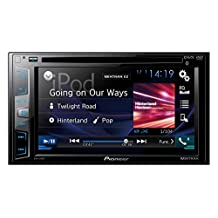Pioneer AVH-X395BT Double-Din DVD Multimedia AV Receiver with 6.2 Inch Wvga Touchscreen Display, MIXTRAX, Built-in Bluetooth, and Direct Control for iPod/iPhone and Certain Android Phones