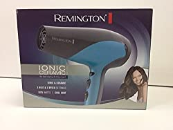 Remington D 3190 Ionic Ceramic 1875 Watts Hair Dryer, Teal Blue/Grey