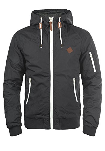!Solid Tilly Herren Übergangsjacke Herrenjacke Jacke mit Kapuze, Größe:M, Farbe:Dark Grey (2890)