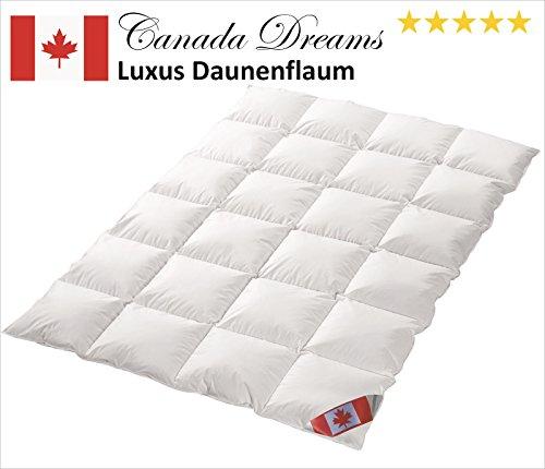 Canada Dreams Luxus Ganzjahres Daunendecke Wärmegrad 3 Luxus Daunenflaum ☆☆☆☆☆ (220x240 cm)