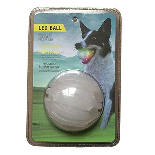 Currentiz Chuckit Max Glow Ball Hund Spielen Kauen Kugel glühend Ball Bounce Light up Ball Leuchtet im Dunkeln Hundespielzeug Bunt Leuchtball Pet Toys für Hunde Katzen Nacht Spielen