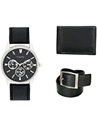 Crude Smart Combo Analog Watch With Lether Belt & Wallet