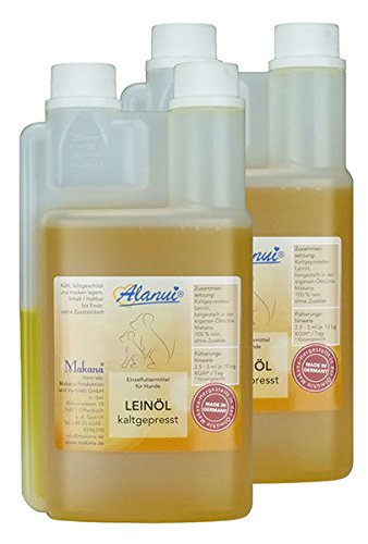 alanui Leinöl, nativ kaltgepresst, 100% rein, Dosierflasche, 2er Pack (2 x 500 ml)