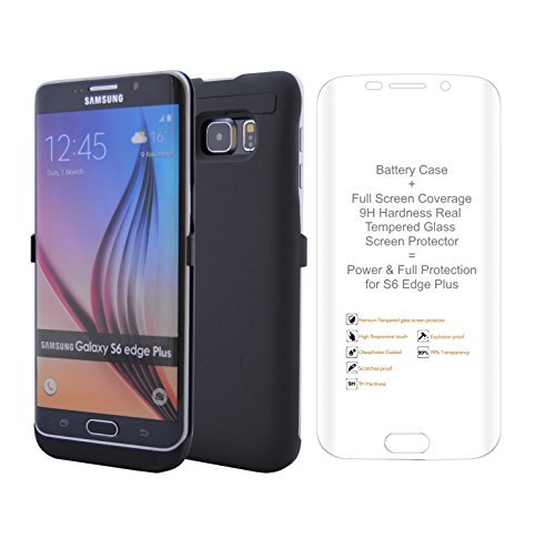 Samsung Galaxy S6 Edge Plus Battery Case 5200 mAH Extended Battery Pack. Included 9H Tempered REAL Full Coverage Glass Screen Protector. Use this external rechargeable charger as Backup Power  available at amazon for Rs.6311