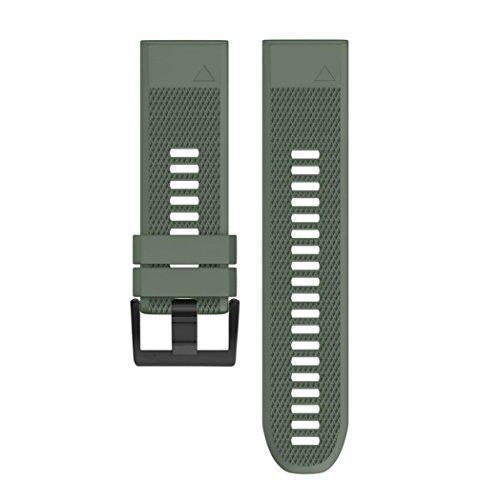 Jintime Armband Für Garmin Approach S60 Smart Watch GPS Watch Band Ersatz Weiches Silikon Bügel Sport Uhr Wrist Für Männer/Dame (Army Green)