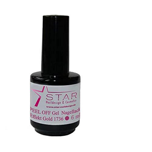 Star Naildesign & Cosmetics Effet Peel Off UV/LED Gel vernis à ongles or, 6 ml