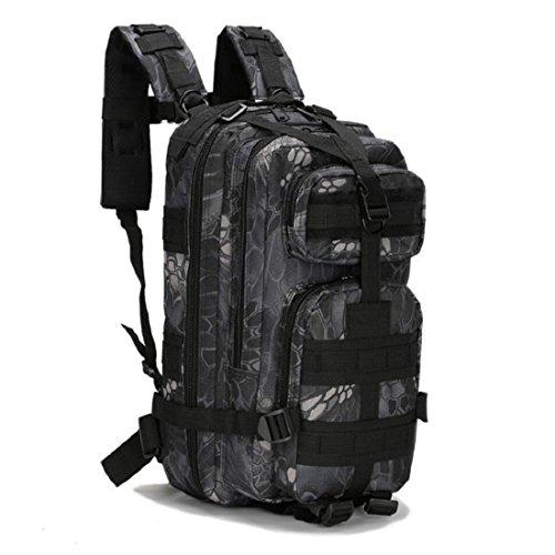 LF&F Backpack Camping outdoor Zaini Borse Tattiche militari sport all'aria aperta 21L Oxford impermeabile traspirante camuffamento Tattiche 3p doppio zaino spalle G 21L A