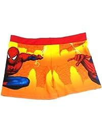 Kids Boys Swim Suit Short Premium Bright Spiderman Cartoon Print (Swimming Costume Swimwear)