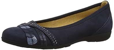 Gabor 24165, Ballerines femme, Bleu (Dark Blue/Glitter), 36