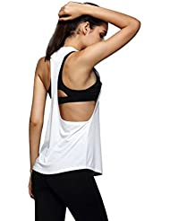 40db49399 VENMO Mujer Verano Camiseta Tirantes Deporte de Gimnasio Sueltas Formación  Ejecutar Camiseta sin Mangas