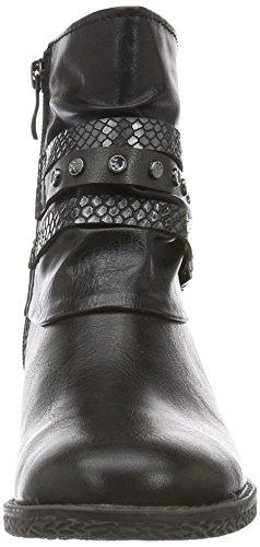 Marco Tozzi 25417, Bottes Motardes Femme Noir (BLACK ANT.COMB 096)