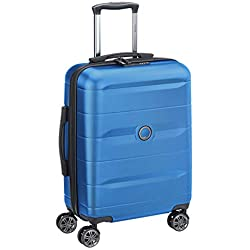 DELSEY PARIS - COMETE - Valise rigide à doubles roues silencieuses et serrure TSA à combinaison intégrée - 55cm, 35.4L, Bleu