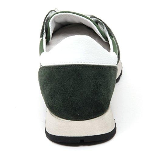 B8568 sneaker uomo TRUSSARDI JEANS scarpa running verde shoe man Verde