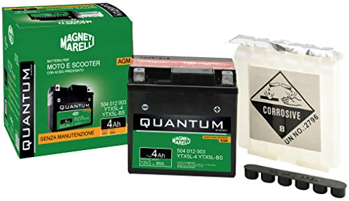 Batteria moto scooter 4Ah 12V 80A tecnologia AGM Quantum