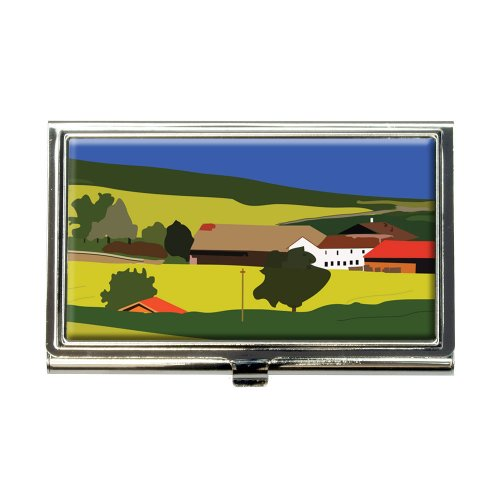red-roof-farm-rolling-yellow-hills-landscape-business-credit-card-holder-case