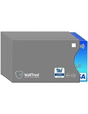 WallTrust® protectoras de RFID NFC | Protección * Aprobado TÜV Alemán * | 10 Fundas para Tarjeta de Crédito Débito...