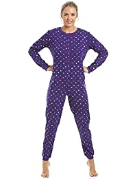 Camille Womens Cotton Various Colour Hooded Star Print Onesie