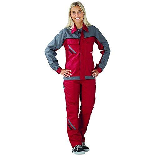 Planam Damen Bundhose Highline, größe 36, rot / schiefer / schwarz / mehrfarbig, 2390036
