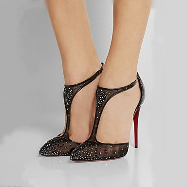 pwne Tacchi Primavera Estate Autunno Scarpe Club Gladiator Glitter Tulle Office &Amp; Carriera Parte &Amp; Abito Da Sera Casual Stiletto Heelrhinestone Fibbia Black Us5.5 / Eu36 / Uk3.5 / Cn35 US6.5-7 / EU37 / UK4.5-5 / CN37