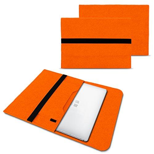 NAUC Laptoptasche Sleeve Schutztasche Hülle für Trekstor Primebook P14 Netbook Ultrabook 14,1 Zoll Laptop Filz Case in verschiedenen Farben , Farben:Orange
