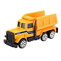 Noradtjcca Mini Alloy Engineering Car Model Tractor Toy Dump Truck Model Classic Toy Small Vehicles Birthday Gift For Boys