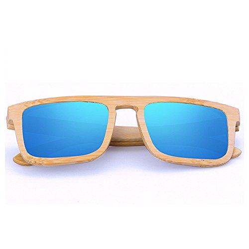 Ppy778 Bambus polarisierte Sonnenbrille Männer Frauen Holz Gläser für Wassersport und Outdoor-Aktivitäten (Color : Gray)