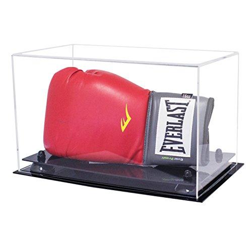 Better Display Cases Deluxe Acryl-Boxhandschuh, für Einzel- oder Doppelhandschuhe, mit UV-Schutz, Clear with Black Base -