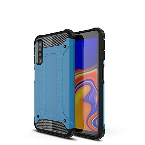 TenYll Samsung Galaxy A7 2018 Custodia,Protezione Antiurto per PC+TPU Antiurto,Anti-Graffio,per Samsung Galaxy A7 2018 Custodia -Blu Scuro