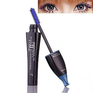 99AMZ Resistente al agua Máscara de Pestaña con Fibras de seda Negro Curl Naturales Rimel Pestañas Extensión y…