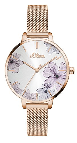 s.Oliver Damen Analog Quarz Armbanduhr SO-3524-MQ
