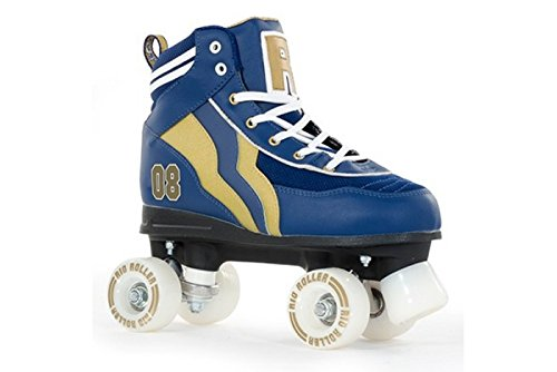 Rio Roller Varsity Quads Rollschuhe Disco Roller blau-gold blue-gold, 34