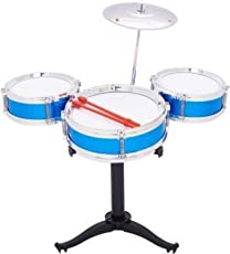JAYNIL Enterprise Baby Boy's and Baby Girl's Creative and Super Fantastic Jazz Drum Set (Multicolour)