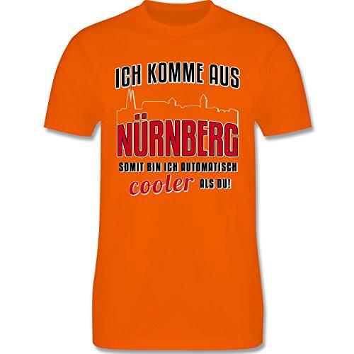 Städte - Ich komme aus Nürnberg - Herren Premium T-Shirt Orange